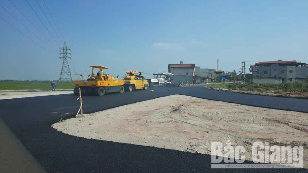 Hanoi belt road's section, Bac Giang province, opens to traffic, main route and 3 branches, railway overpass,  third level delta road, sufficient condition