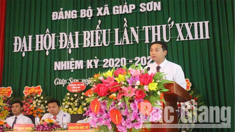 Giáp Sơn - Xã đầu tiên của huyện Lục Ngạn tổ chức Đại hội Đảng bộ