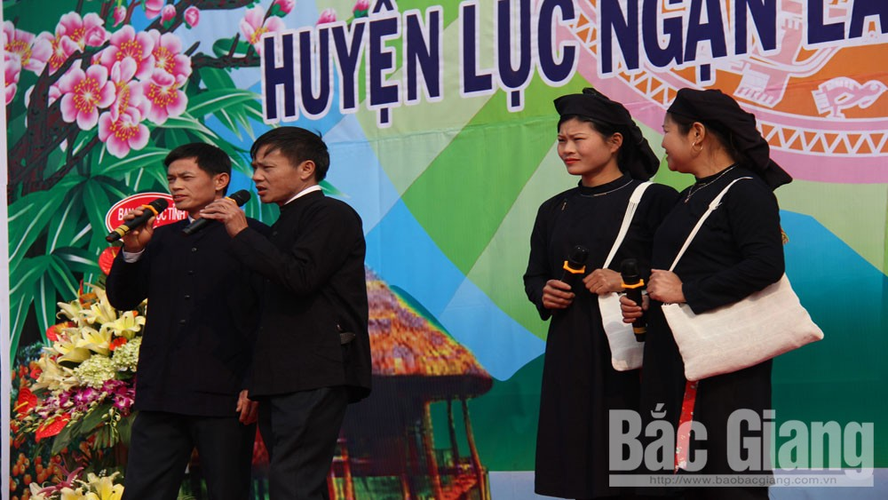 Luc Ngan, Bac Giang province, ethnic groups, folk songs, production activities, real life, cultural identities, traditional folk singing activity, folk singing festival, love-exchange songs