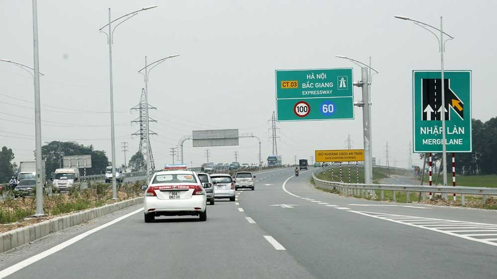 Viet Yen, Bac Giang province, builds overpass, national road No.1, frontage road construction, local budget, urban road