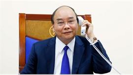 Thủ tướng Nguyễn Xuân Phúc điện đàm với Tổng thống Hoa Kỳ Donald Trump