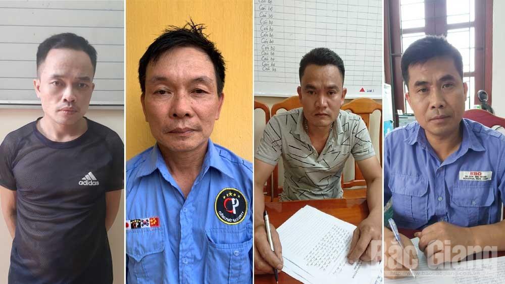 Các đối tượng (từ trái sang): Nguyễn Thế Long, Nguyễn Việt Hà, Nguyễn Hữu Phương, Nguyễn Văn Biển.