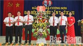 Đảng bộ xã Cương Sơn (Lục Nam) tổ chức đại hội điểm