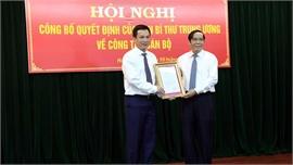Đồng chí Triệu Thế Hùng giữ chức Phó Bí thư Tỉnh ủy Hải Dương