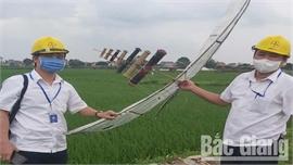 Hiệp Hòa huy động lực lượng công an tham gia giải quyết tình trạng thả diều gây ra sự cố lưới điện