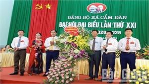 Xã Cẩm Đàn tổ chức Đại hội Đảng bộ lần thứ XXI