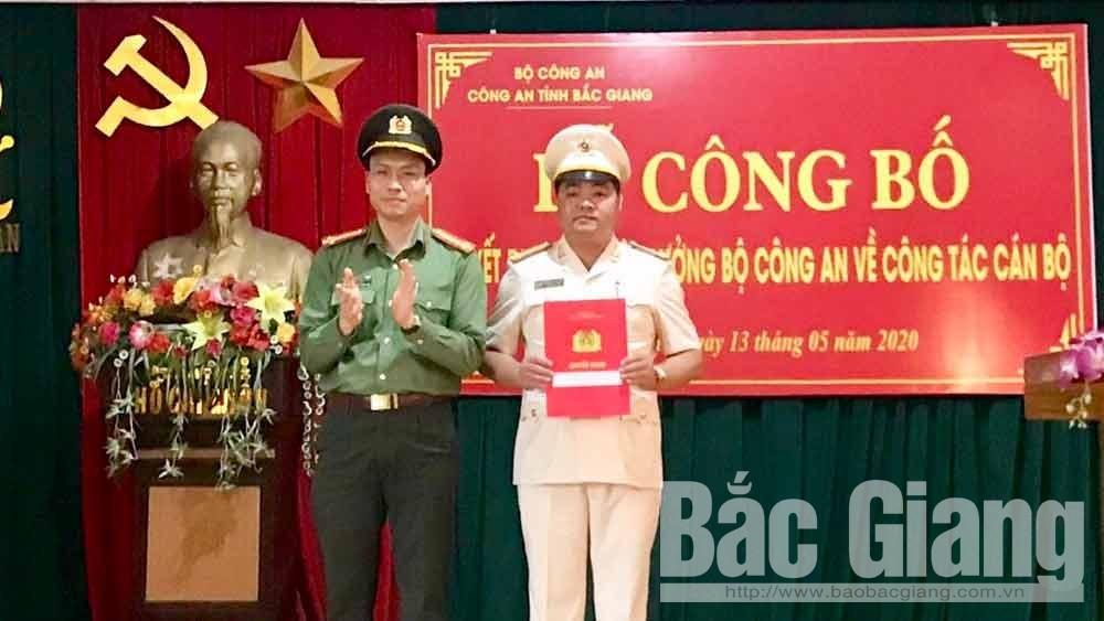 Thượng tá Nguyễn Văn Duân được bổ nhiệm giữ chức vụ Trưởng Công an huyện Lục Ngạn