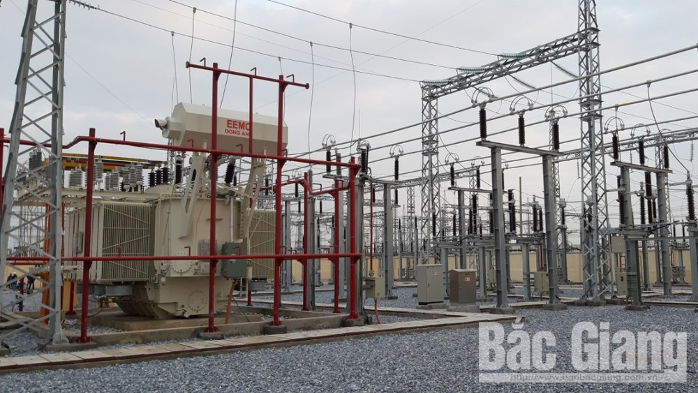 Bac Giang province, ensures power supply, Van Trung industrial park,  power using demand, sharply increased, huge scale, power development plan