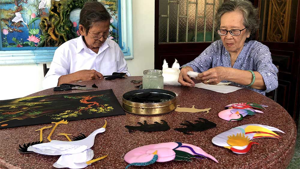 Couple spends half a century embossing life into art