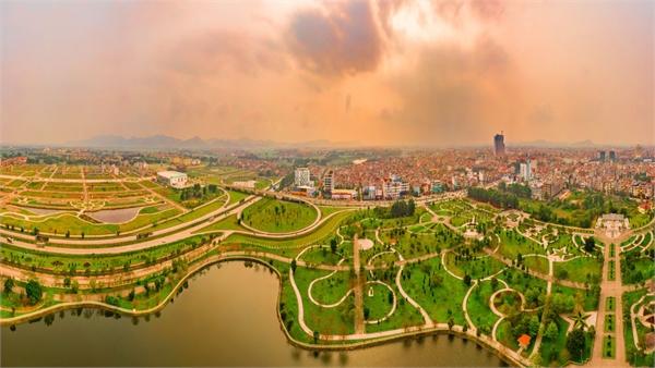 Hoàng hôn trên thành phố Bắc Giang