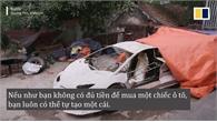 Siêu xe bằng bìa các-tông của hai thanh niên Việt Nam lên báo nước ngoài