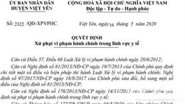 Bắc Giang: Mở cửa trở lại khi chưa được phép, chủ quán Karaoke Ben Club bị phạt 7,5 triệu đồng