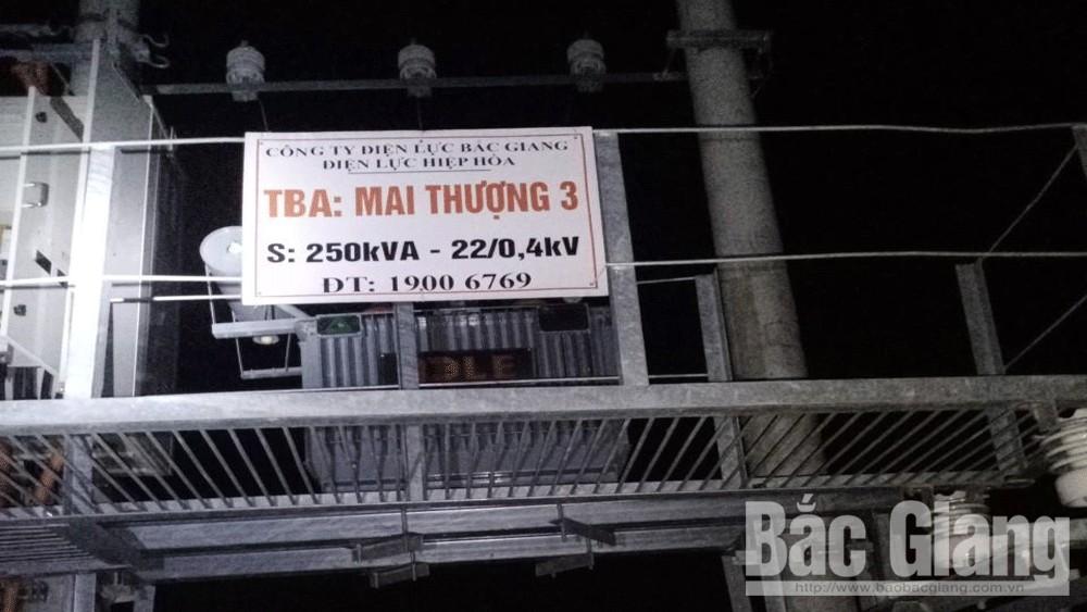 Trạm biến áp Mai Thượng 3, thôn Mai Thượng, xã Mai Đình (Hiệp Hòa) bị mất trộm cáp điện.