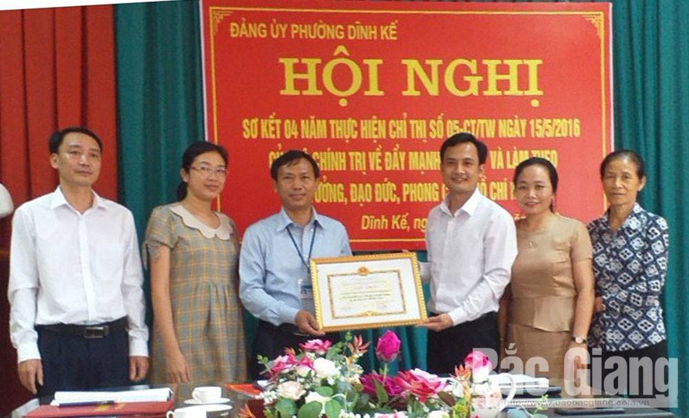 Bac Giang city honors 34 exemplary models in studying and following Uncle Ho