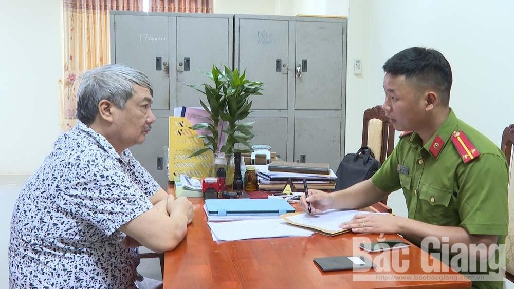 Dương Văn Bắc tại cơ quan công an.