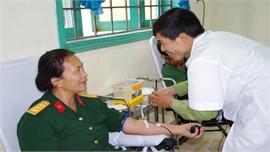 Nữ quân nhân 20 lần hiến máu