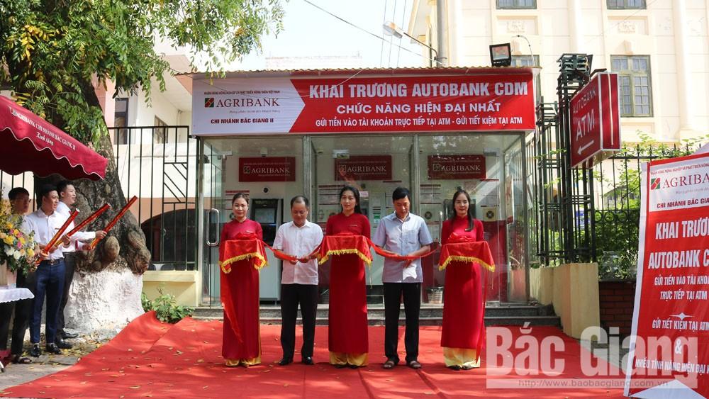 Agribank Chi nhánh Bắc Giang II: Khai trương máy gửi- rút tiền tự động đa chức năng