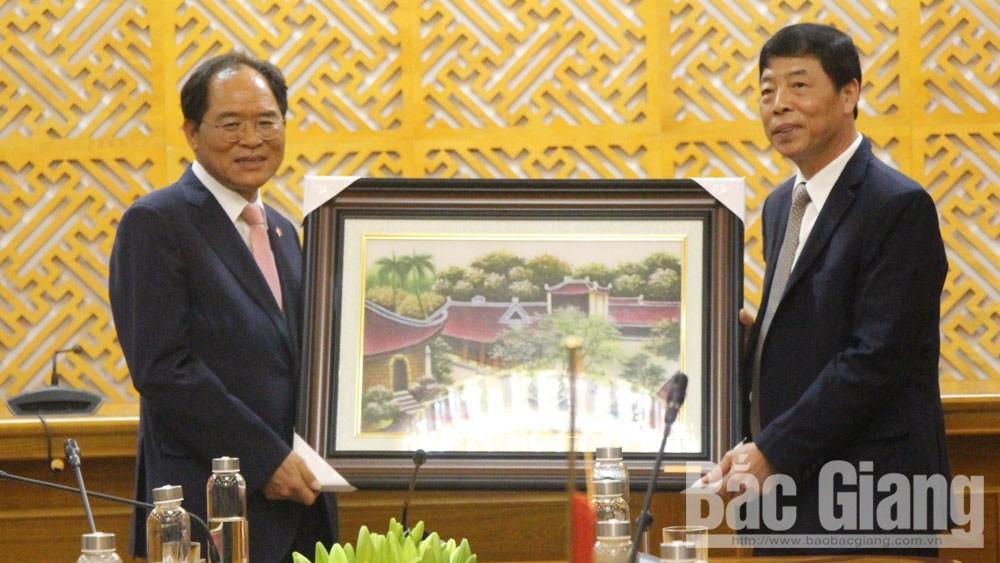Bí thư Tỉnh ủy Bùi Văn Hải tiếp Đại sứ Hàn Quốc tại Việt Nam Park Noh-wan
