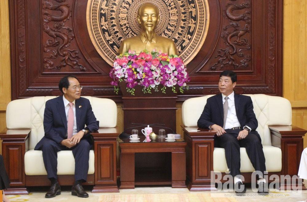 PPC Secretary Bui Van Hai, RoK's ambassador, Park Noh-wan, Embassy of Republic of Korea, fine traditional relationship, economic growth, socio-economic development