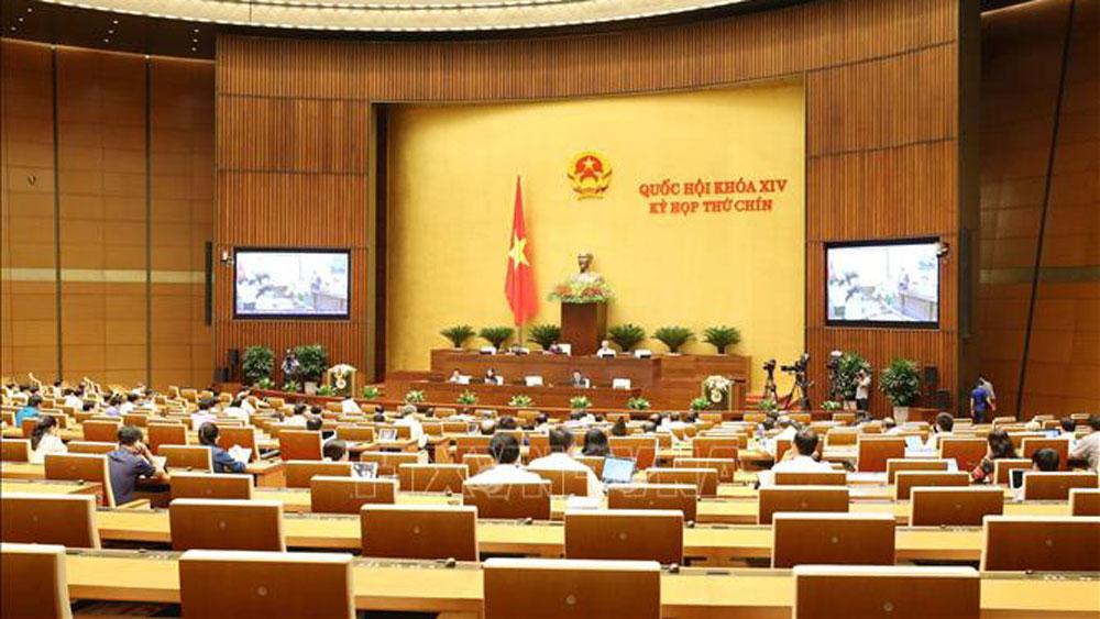 Kỳ họp thứ 9, Quốc hội khóa XIV, xây dựng luật, pháp lệnh, dự án Luật, Thỏa thuận quốc tế
