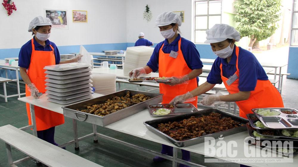 Ăn ca, suất ăn, Bắc Giang, doanh nghiệp, an toàn thực phẩm