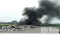 Bắc Giang: Đốt rác gây mất điện diện rộng