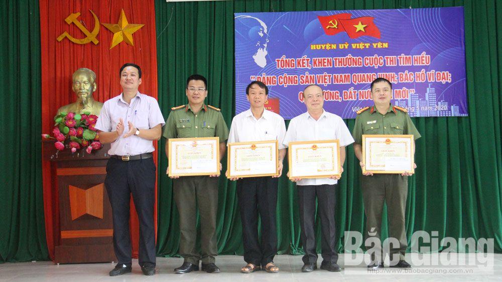 Việt Yên: Khen thưởng các tập thể, cá nhân có thành tích xuất sắc trong cuộc thi tìm hiểu về Đảng, Bác Hồ