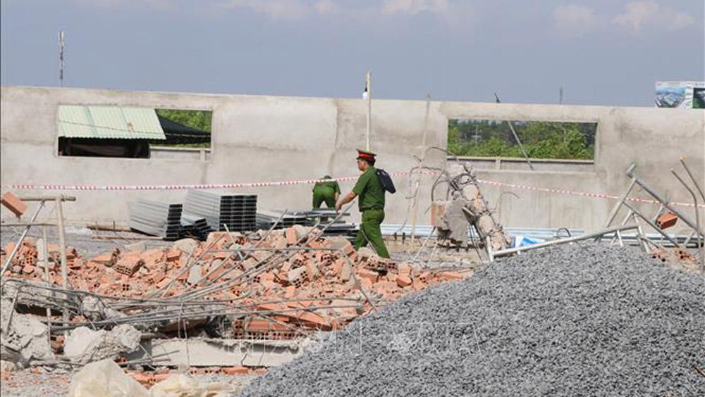 Vụ sập công trình Đồng Nai, khởi tố Giám đốc công ty thi công Khu công nghiệp Giang Điền, tai nạn lao động