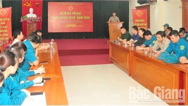 Bắc Giang: Ra quân huấn luyện lực lượng tự vệ cụm 4 Ban CHQS TP Bắc Giang