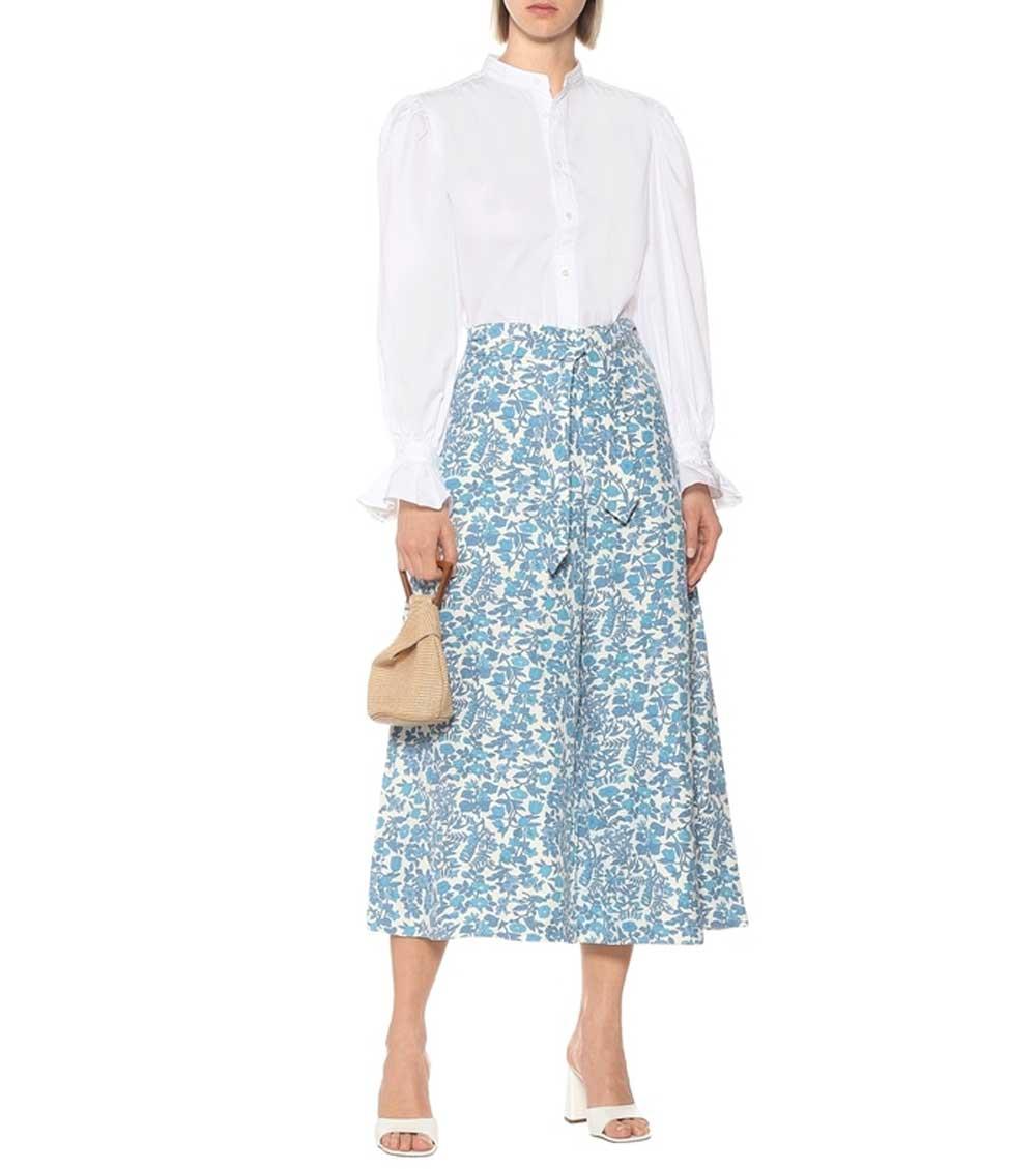 Kiểu quần lửng, nàng công sở,  nhà mốt Gucci, Kenzo, Valentino, See by Chloé, tôn vẻ thanh lịch,  thoải mái ngày hè