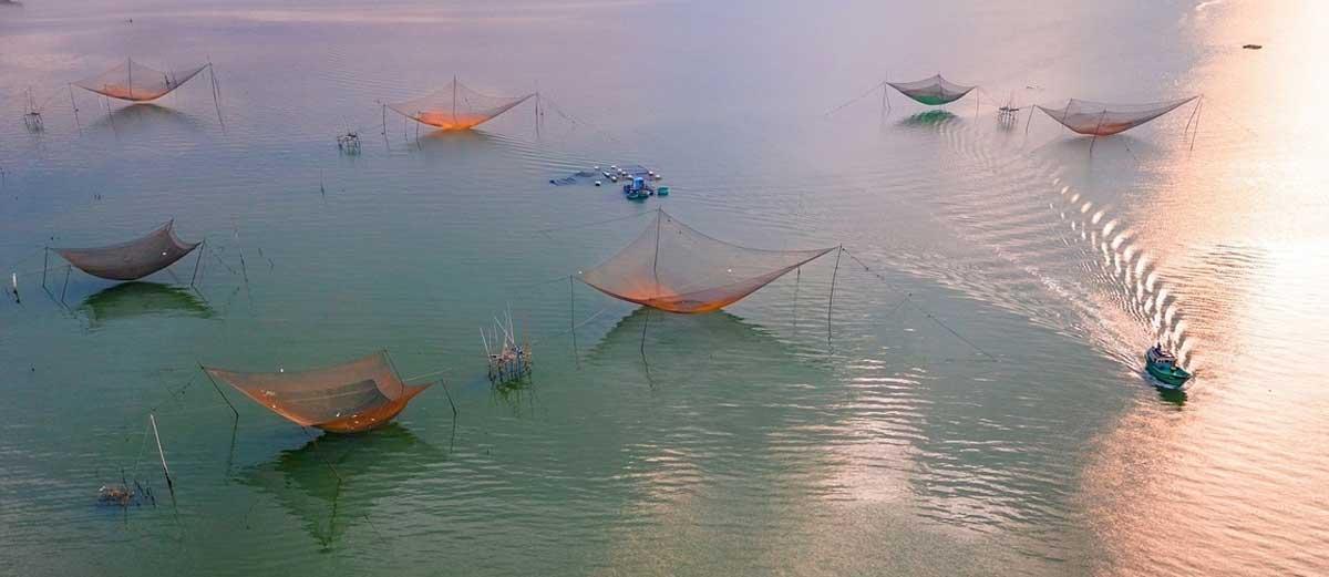 Drone shots, Binh Dinh beauty, new heights, bird-eye-view photos, Vietnamese photographer, peaceful nature