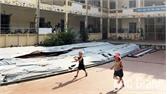 Bắc Giang: Học sinh mầm non học dưới công trình đang thi công, lo ngại mất an toàn