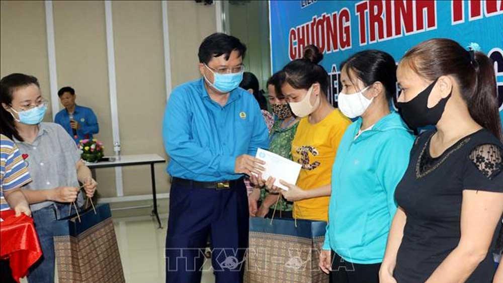 Công đoàn Việt Nam, hỗ trợ tiền mặt, người lao động, bị ảnh hưởng, dịch Covid-19, bị mất việc, thiếu việc làm, mất thu nhập
