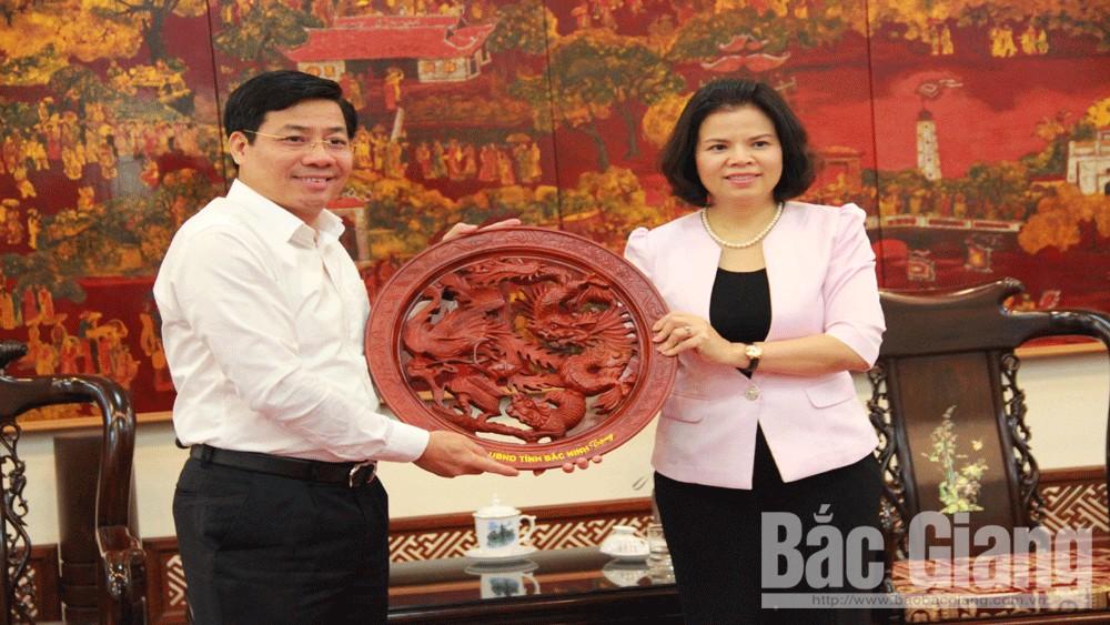 Tăng cường, kết nối, giữa Bắc Giang, và Bắc Ninh, để cùng, phát triển