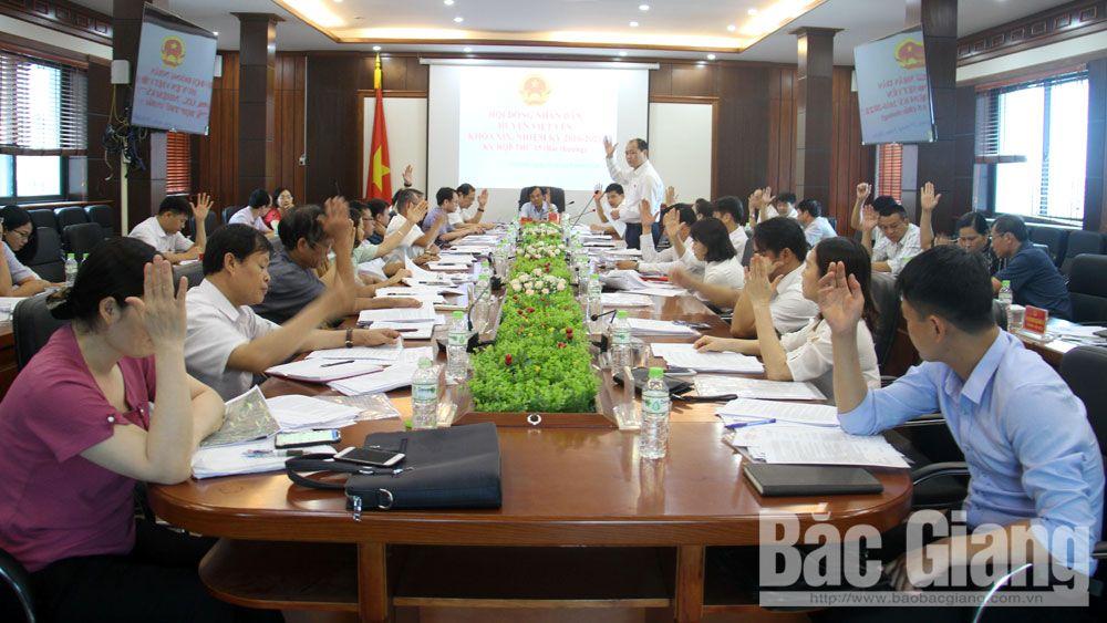 HĐND huyện Việt Yên tổ chức kỳ họp bất thường
