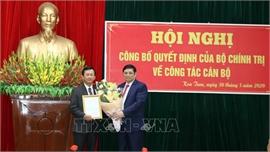 Trao quyết định điều động, phân công đồng chí Dương Văn Trang giữ chức Bí thư Tỉnh ủy Kon Tum