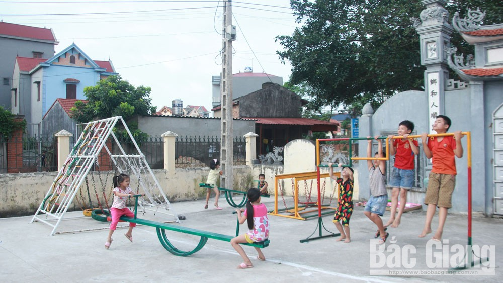 Playground created to Bac Giang's children