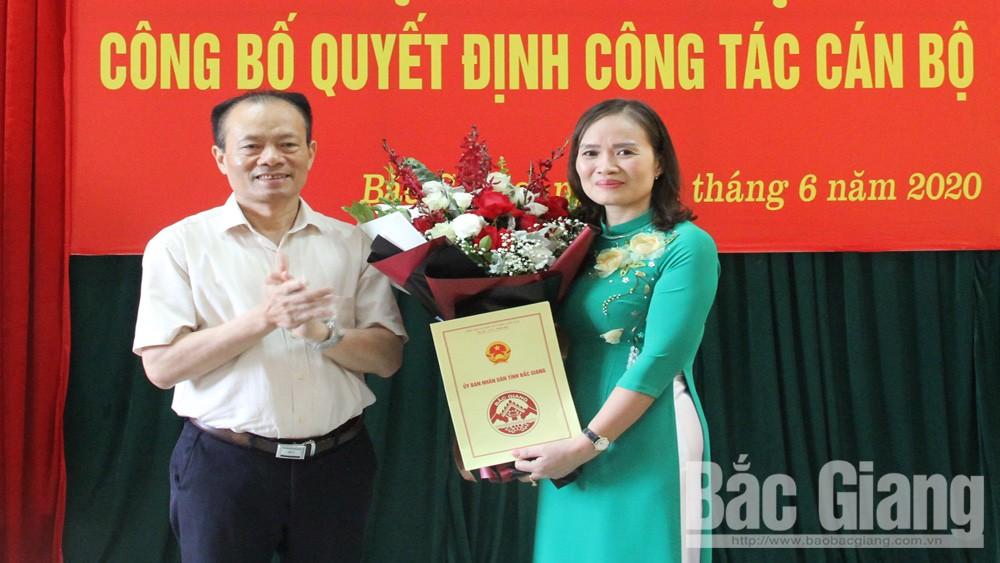 Băc Giang; Thanh tra tỉnh; bổ nhiệm cán bộ; Phó Chánh Thanh tra tỉnh