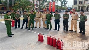 Nâng cao kỹ năng phòng cháy, chữa cháy cho cán bộ, chiến sĩ Công an huyện Lạng Giang