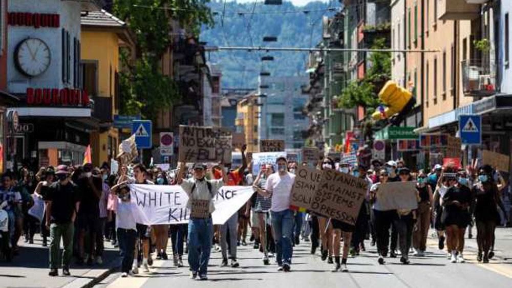 Biểu tình, bạo lực, phân biệt chủng tộc, Mỹ, Thụy Sĩ, George Floyd