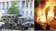 Xe Vệ binh Quốc gia Mỹ tràn ngập mọi ngóc ngách thủ đô Washington