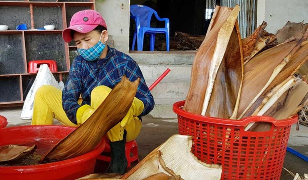 Chàng trai, thu nhập hơn 100 triệu đồng/tháng, từ mo cau, chén đĩa đẹp mắt, thân thiện với môi trường, Nguyễn Văn Tuyến
