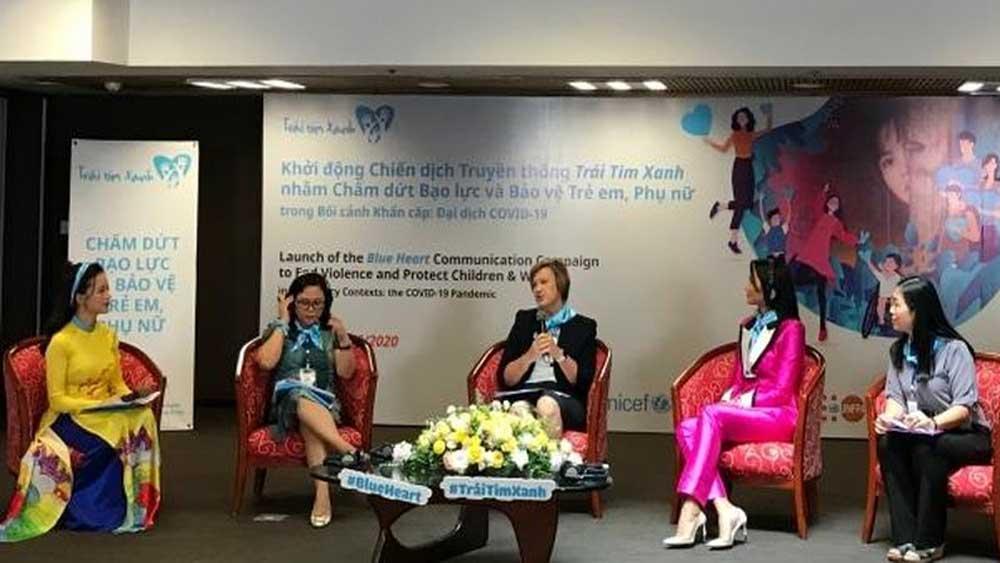Chiến dịch Trái tim xanh, nâng cao nhận thức, bạo lực đối với trẻ em, phụ nữ, UNICEF, không thể chấp nhận được, chấm dứt bạo lực, bảo vệ trẻ em