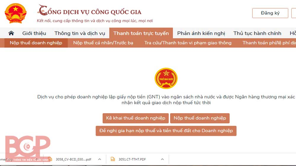 Bac Giang province, Tax administrative procedures, NPSP, national public service portal,  tax payers, service efficiency,  tax declaration, account registration