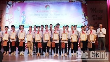 TP Bắc Giang: Tuyên dương 99 đại biểu Cháu ngoan Bác Hồ