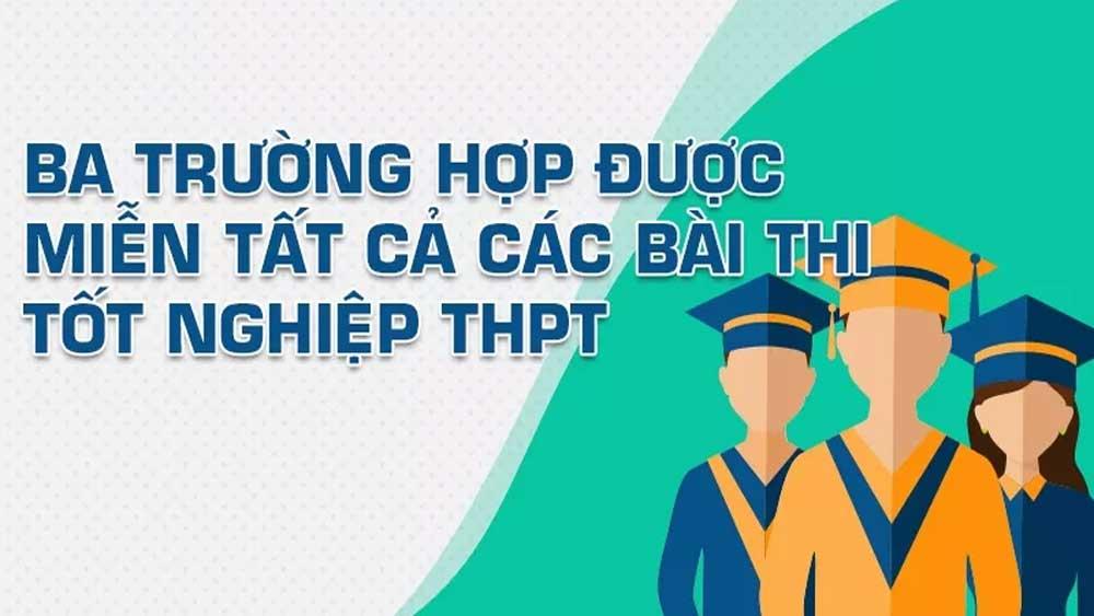 Ba trường hợp được miễn tất cả các bài thi tốt nghiệp THPT