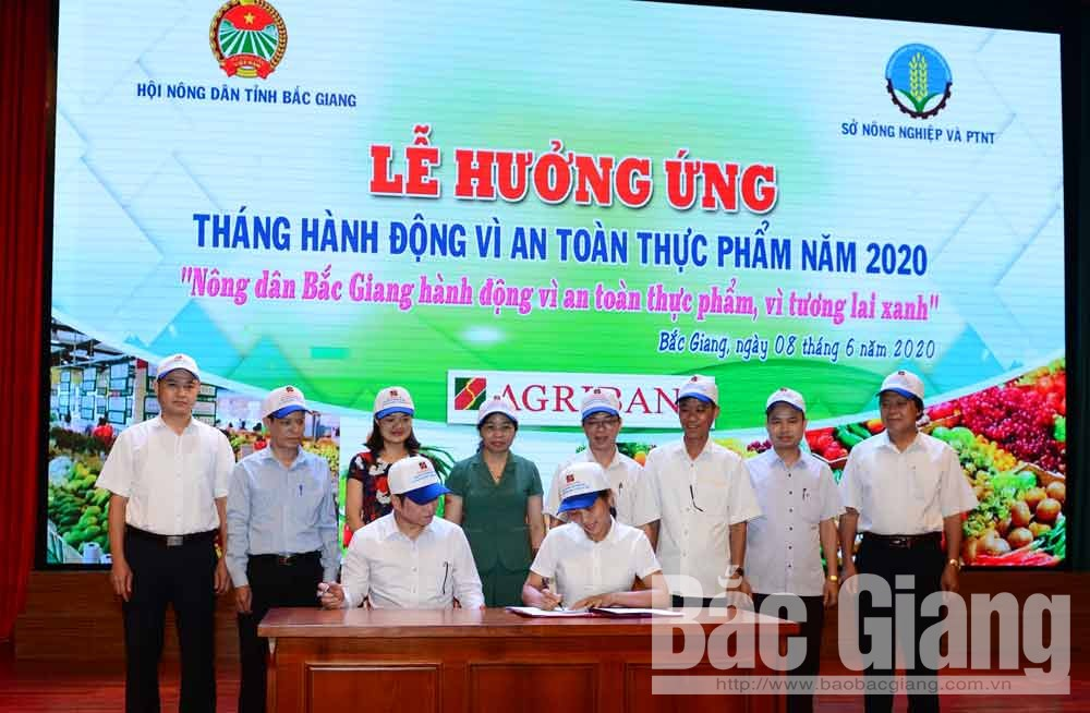 Bac Giang farmers, join hands, food safety, green future, Action Month, commodity production areas, linkages of development, supply and value chains