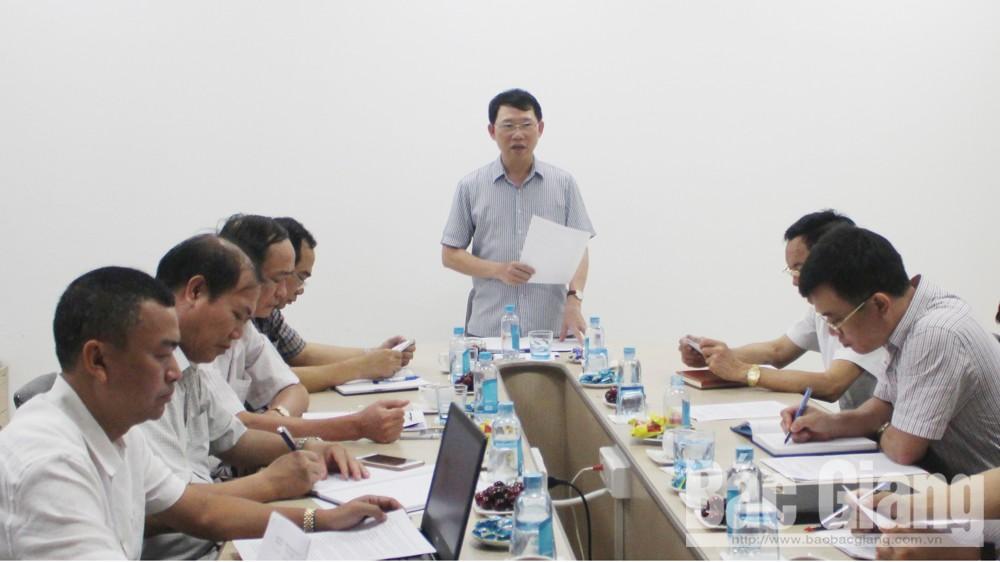 Phó Chủ tịch UBND tỉnh Lê Ánh Dương kết luận buổi kiểm tra.