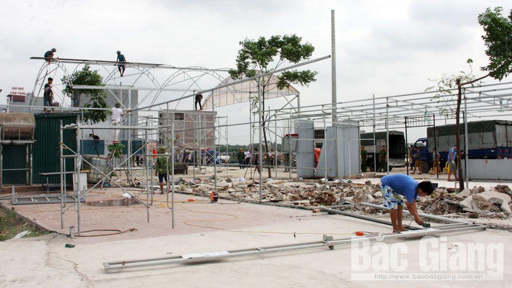 Tháo dỡ công trình lấn chiếm 18 lô đất ở tổ dân phố My Điền 2 (Việt Yên)