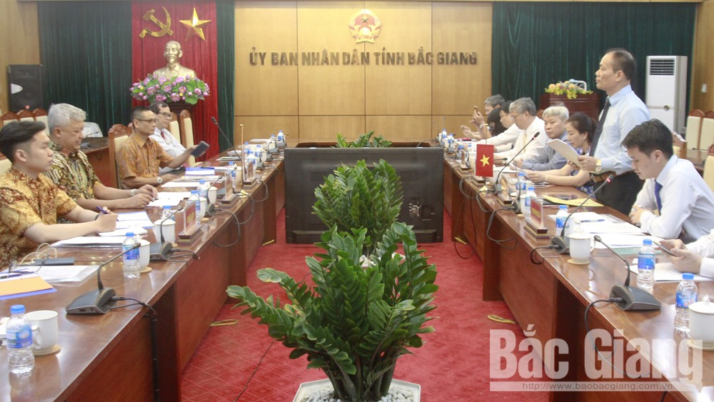 Vietnam-Indonesia Friendship Parliamentary Group, Bac Giang province, Indonesian Ambassador to Vietnam, working visit, good traditional relationship,  domestic and foreign enterprises, spirit of mutual development